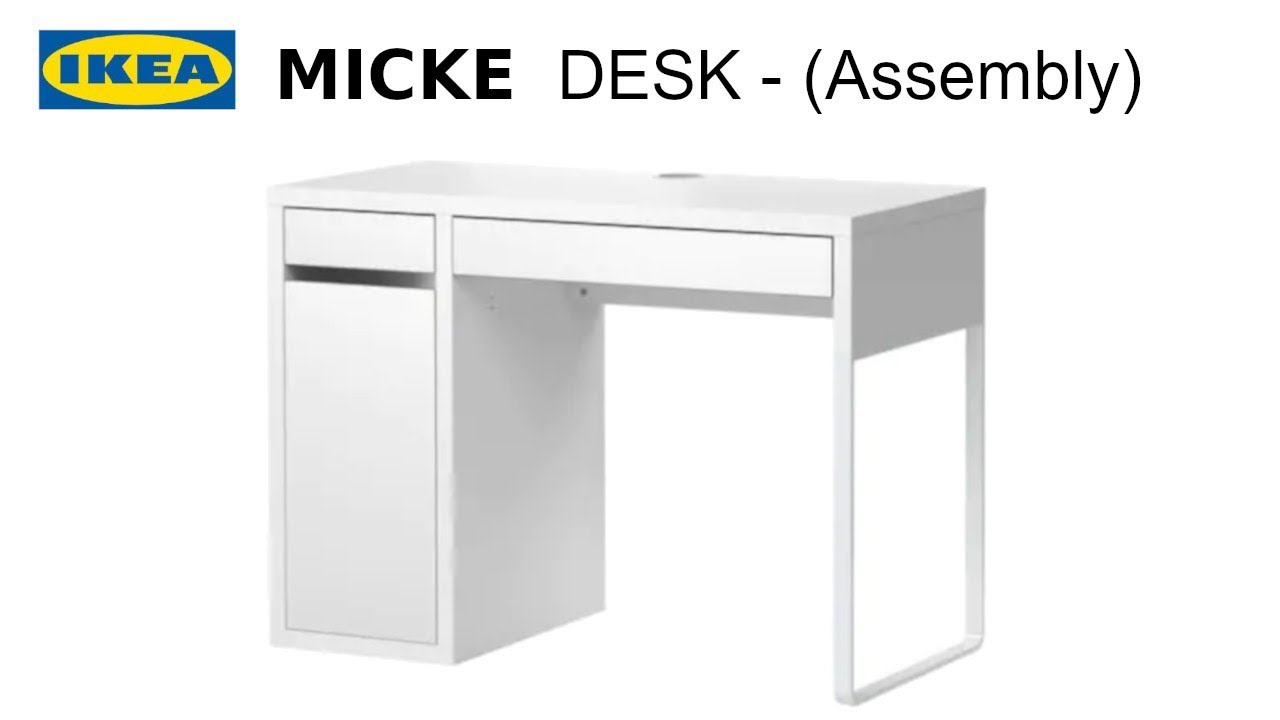 Ikea Micke desk - Unbox and Assembly