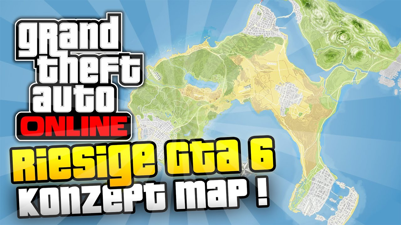 Gta 6 Map Neue Gta 6 Karte Meine Meinung Wie Sieht Die Gta 6