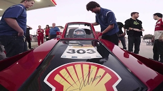 Scuderia Ferrari drivers on the track in student-built energy efficient cars | Shell Eco-marathon