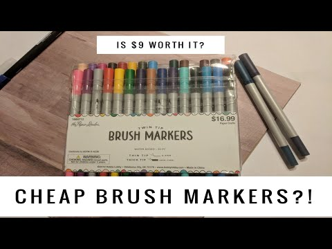 CHEAP BRUSH MARKERS? Paper Studio vs. Tombow!!!  |  Nina's Nook