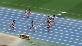 2017 茨城県中学通信陸上 3年女子100m決勝