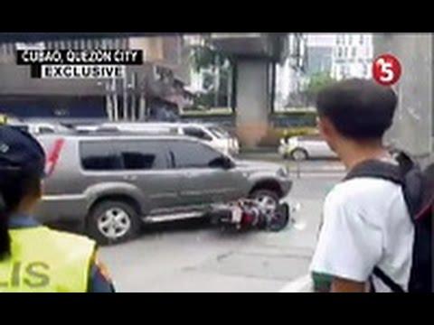 SUV NA NAG-COUNTERFLOW, INARARO ANG MOTORSIKLO NG ISANG TANOD
