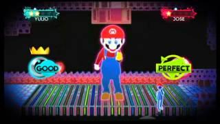 Just Dance 3 Wii Gameplay - Ubisoft meet Nintendo: Just Mario (DLC)