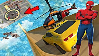 Superhero cars challenge with spiderman | superhero car game online like @onegameplus played |