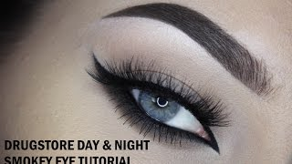 Smoked out catwing - Drugstore makeup tutorial