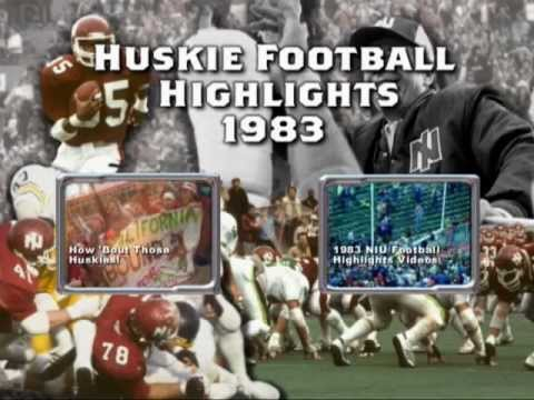 NIU Huskie Fight song - lead in to highlights from 1983
