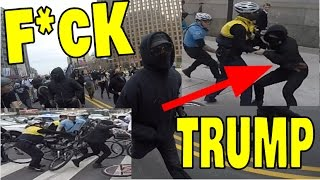 POLICE USE BIKES AS WEAPONS FIGHTING TRUMP PROTESTERS!! (RIOT GONE WRONG)