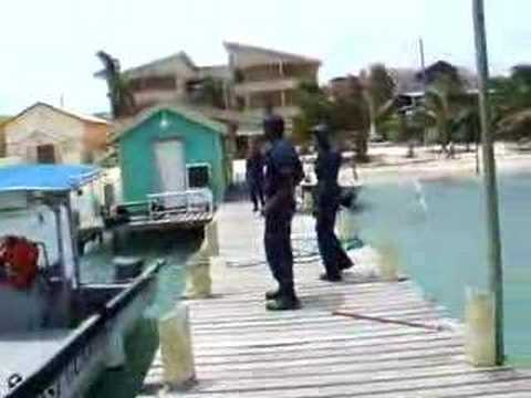 Belize Coast Guard stationed at San Pedro, Ambergris Caye