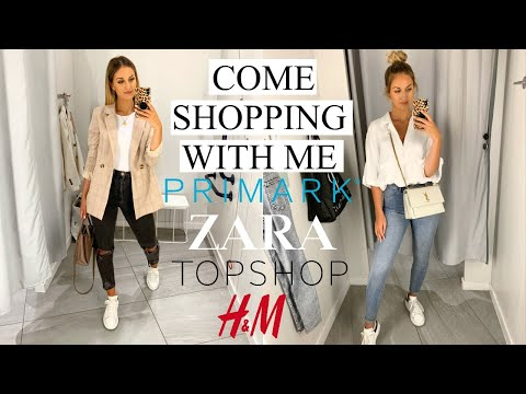 WHAT'S NEW IN STORES AT ZARA, PRIMARK, H&M & TOPSHOP | COME SHOPPING WITH ME