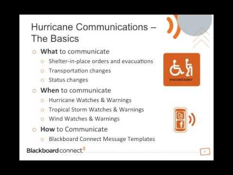 Hurricane Communications Webinar - Part 1
