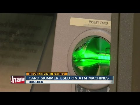 Card skimmer used on ATM machines