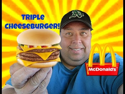 Mcdonald's® Beefy Triple Cheeseburger REVIEW!