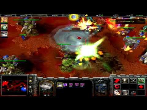 Warcraft III TFT - Human Chapter 4 [Hard] - The Search For Illidan (Destroy the Night Elf Base)