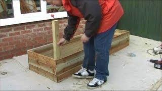 Constructing A Raised Bed Vegtable Garden For A Patio Garden