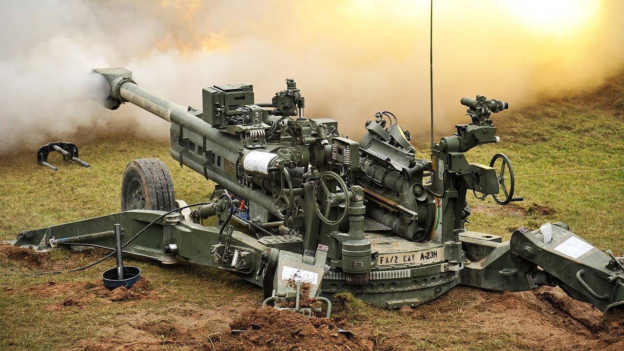 "Direct Fire Training. M777, M109A6 Paladin, M119A3 in ""Sniper Mode"""