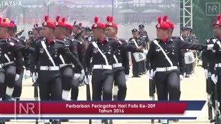 Najib Razak : Perbarisan Peringatan Hari Polis Ke 209 Tahun 2016