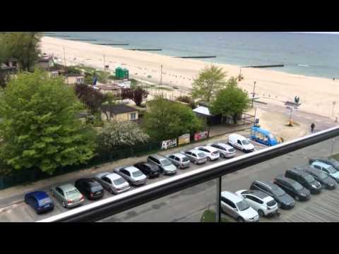 Hotel Marine w Kołobrzegu - wystrój pokoju i piękny widok z