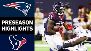 Patriots vs. Texans | NFL Preseason Week 2 Game Highlights