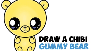 How to Draw a Gummy Bear Easy Step by Step Cute Kawaii Chibi Drawing for Beginners