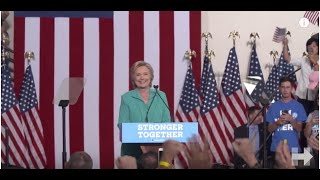 """Hillary Clinton speech on how Donald Trump's campaign has mainstreamed the """"Alt-Right"""" hate movement"""