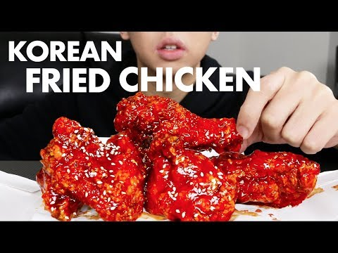 KOREAN SPICY FRIED CHICKEN MUKBANG EATING SHOW + STORYTIME | Crispy Chicken Mukbang Korean Food