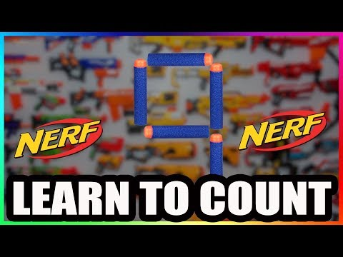 Learn to count with NERF  COUNT TO 10 ENGLISH