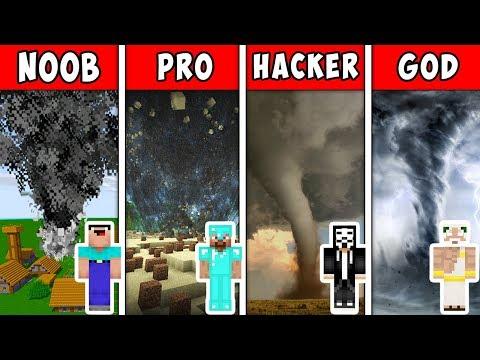 Minecraft NOOB vs PRO vs HACKER vs GOD : TORNADO