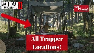 ALL TRAPPER LOCATIONS RED DEAD REDEMPTION 2