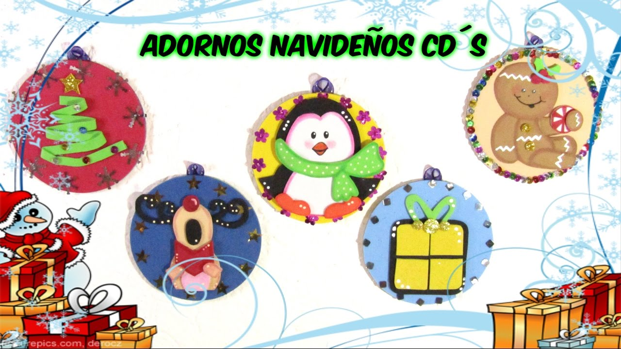 adornos navide os con cds youtube