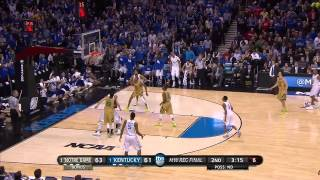 Notre Dame vs Kentucky: Aaron Harrison 3-pointer from deep