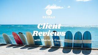Client Reviews: Marial Maher & Casey Hampton