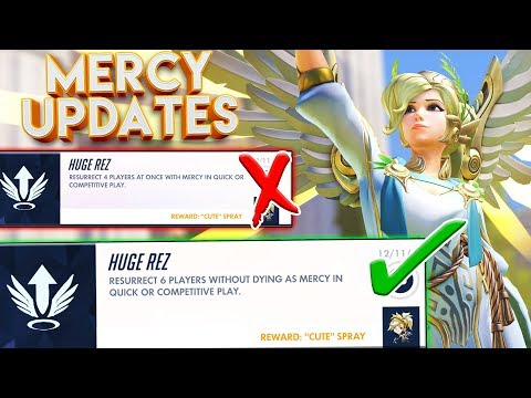 MERCY HAS A NEW ACHIEVEMENT!? OVERWATCH NEW UPDATE CHANGES!
