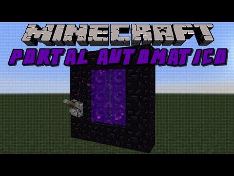 Portal Do Nather Automatico - Minecraft Construçoes Loucas #1