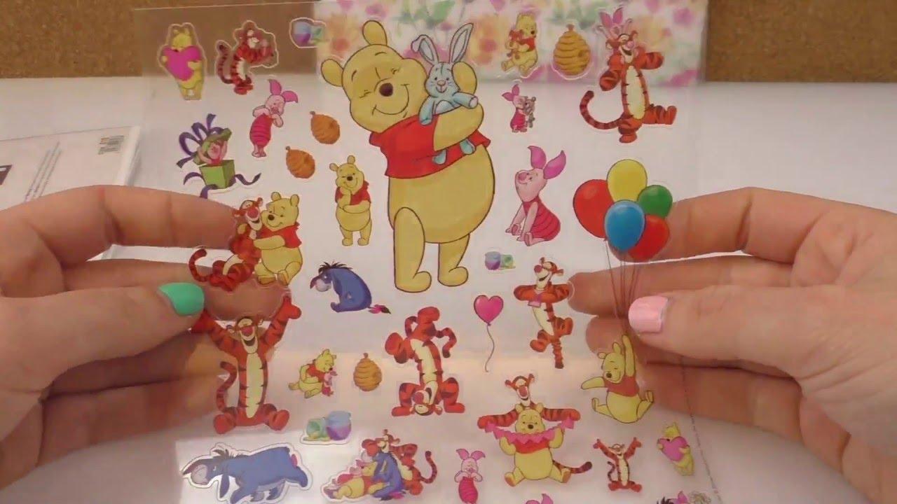 Sticker Haul   Aufkleber aus dem Baumarkt   Winni Pooh, Filofaxing ...