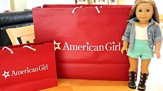 opening american girl doll haul from agp seattle