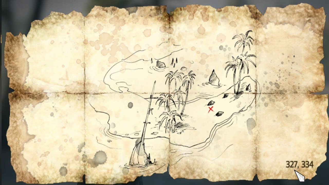 Assassins Creed Iv Black Flag Treasure Map 327 334 Youtube