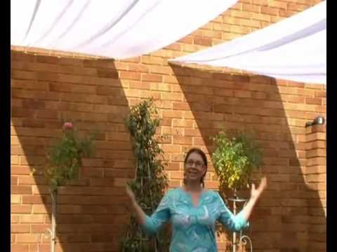 How to make your own romantic patio umbrella youtube for How to create a canopy