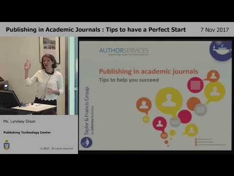 Publishing in academic journals tips to have a perfect start