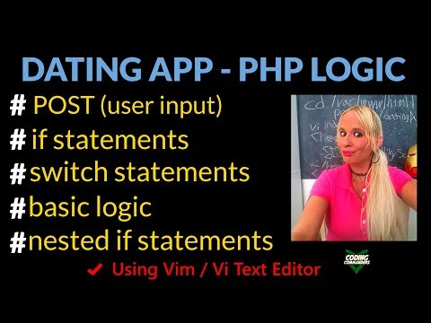 HTML PHP Dating App Project - PHP Form Logic (Vim / Vi Editor)
