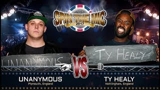 Unanymous vs Ty Healy Full Battle | Spin The Mic 2017