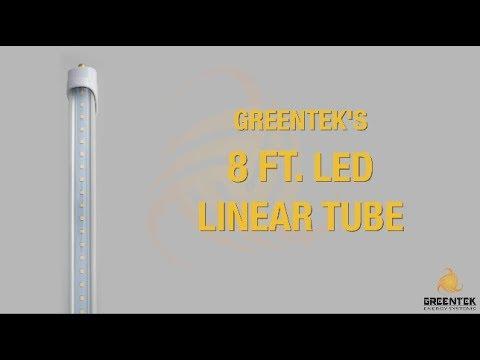 8ft LED Linear Tube - FA8 Socket - Greentek Energy Systems