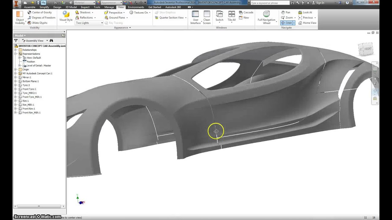 Autodesk Inventor Basic Car modeling Part 0