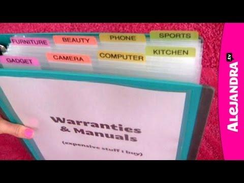 How to Organize Warranties, Manuals & Receipts