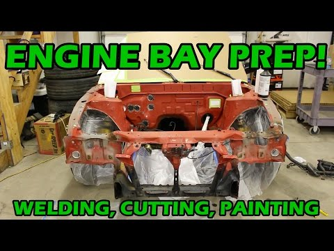 Painting the Engine Bay With BEDLINER?! - S13 Drift Car Build EP.2