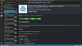 Configure Visual Studio Code for React Native Development