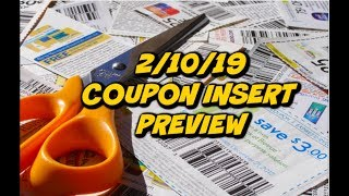 2/10/19 COUPON INSERT PREVIEW