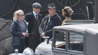 On Set Of Filming New Peaky Blinders TV Series