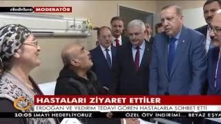 Erdoğan açılışını yaptığı Mersin Devlet Hastanesi'nde hastaları ziyaret etti