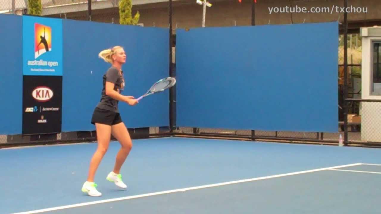Maria Sharapova Forehands In Slow Motion Hd Youtube