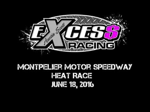 Montpelier Motor Speedway - Heat Race - June 18, 2016